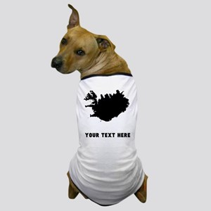Iceland Silhouette (Custom) Dog T-Shirt