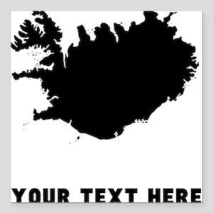 "Iceland Silhouette (Custom) Square Car Magnet 3"" x"