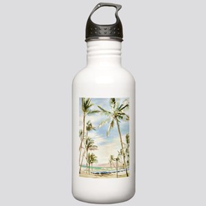 Vintage Hawaiian Beach Stainless Water Bottle 1.0L