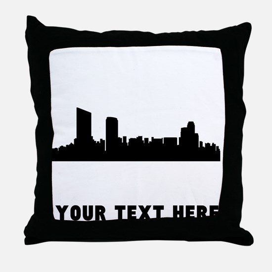 Grand Rapids Cityscape Skyline (Custom) Throw Pill