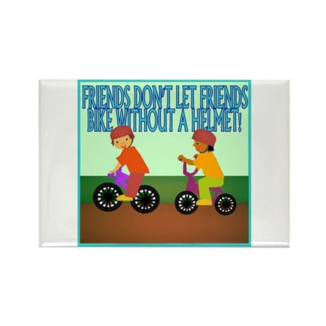 Bicycle Safety Rectangle Magnet