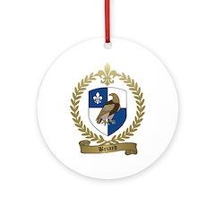 BRIARD Family Crest Ornament (Round)