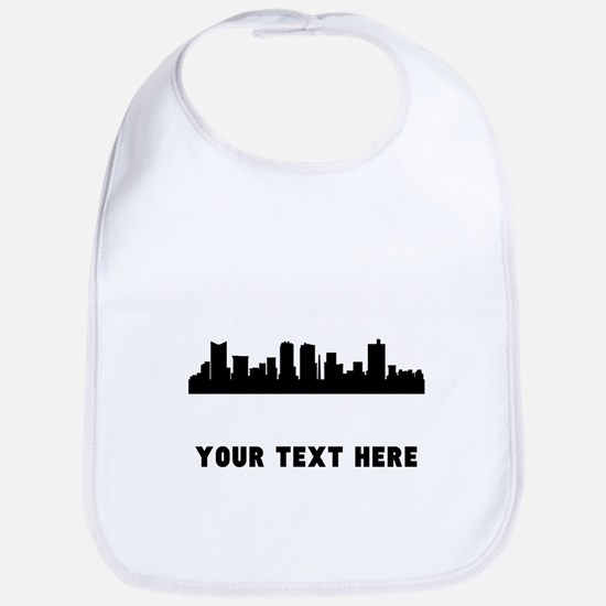 Fort Worth Cityscape Skyline (Custom) Bib