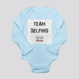 TEAM DELFINO Long Sleeve Infant Bodysuit