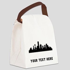 Dallas Cityscape Skyline (Custom) Canvas Lunch Bag