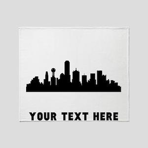 Dallas Cityscape Skyline (Custom) Throw Blanket