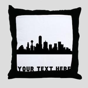 Dallas Cityscape Skyline (Custom) Throw Pillow