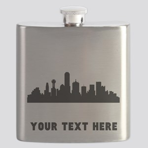 Dallas Cityscape Skyline (Custom) Flask