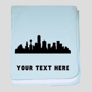 Dallas Cityscape Skyline (Custom) baby blanket
