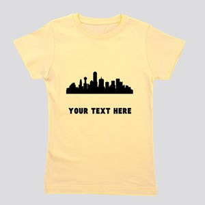 Dallas Cityscape Skyline (Custom) Girl's Tee