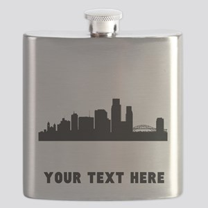 Corpus Christi Cityscape Skyline (Custom) Flask