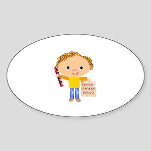Kindergarten Oval Sticker