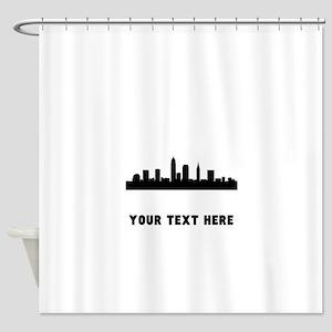 Cleveland Cityscape Skyline (Custom) Shower Curtai