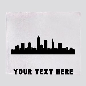 Cleveland Cityscape Skyline (Custom) Throw Blanket