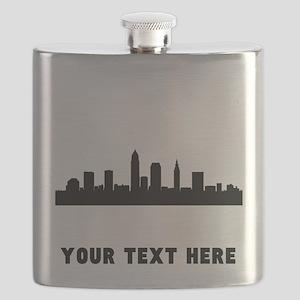 Cleveland Cityscape Skyline (Custom) Flask