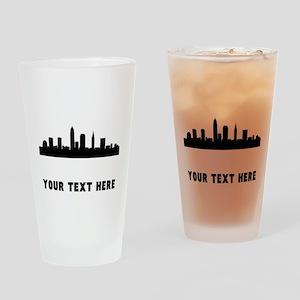 Cleveland Cityscape Skyline (Custom) Drinking Glas