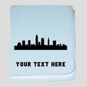Cleveland Cityscape Skyline (Custom) baby blanket