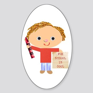 Preschool Oval Sticker