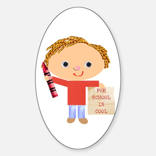 Preschool Oval Decal