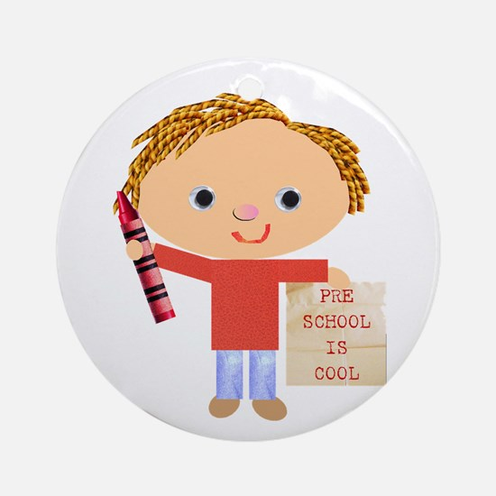 Preschool Ornament (Round)