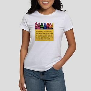 Peaceful Crayons Women's T-Shirt