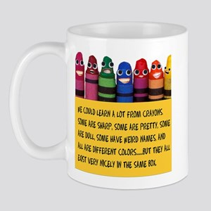 Peaceful Crayons Mug