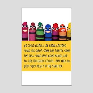 Peaceful Crayons Mini Poster Print