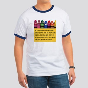 Peaceful Crayons Ringer T