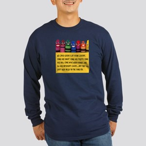 Peaceful Crayons Long Sleeve Dark T-Shirt