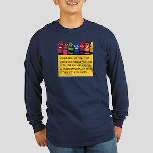 Peaceful Crayons Long Sleeve Dark T-Shirt