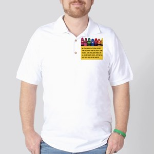 Peaceful Crayons Golf Shirt