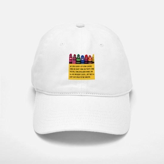 Peaceful Crayons Baseball Baseball Cap