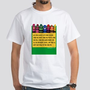 Peaceful Crayons White T-Shirt