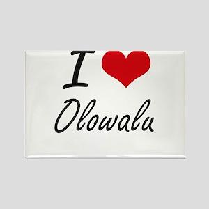 I love Olowalu Hawaii artistic design Magnets