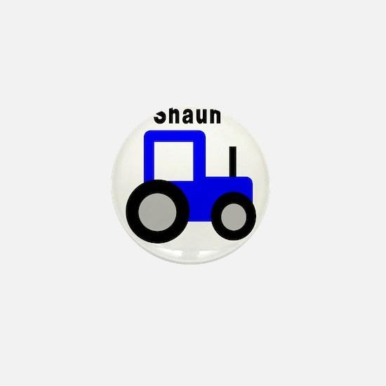 Shaun - Blue Tractor Mini Button