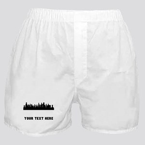 Chicago Cityscape Skyline (Custom) Boxer Shorts