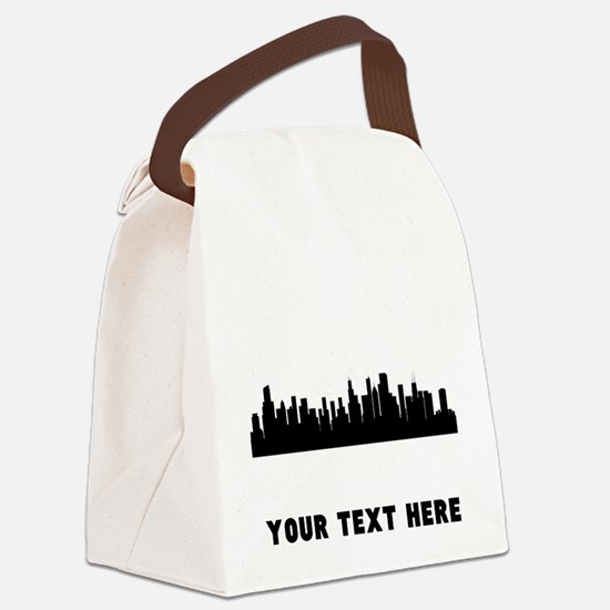 Chicago Cityscape Skyline (Custom) Canvas Lunch Ba