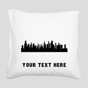 Chicago Cityscape Skyline (Custom) Square Canvas P