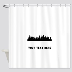 Chicago Cityscape Skyline (Custom) Shower Curtain