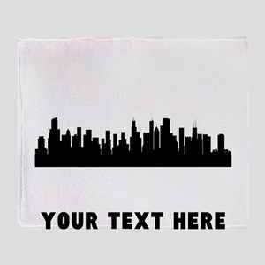 Chicago Cityscape Skyline (Custom) Throw Blanket
