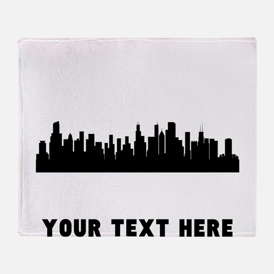 Chicago Cityscape Skyline (Custom) Throw Blanket