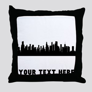 Chicago Cityscape Skyline (Custom) Throw Pillow