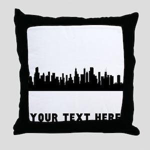 Chicago Cityscape Skyline (Custom) Throw Pillow