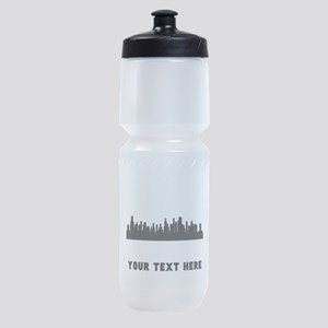 Chicago Cityscape Skyline (Custom) Sports Bottle