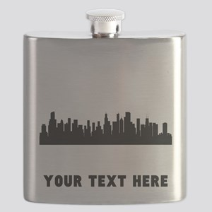 Chicago Cityscape Skyline (Custom) Flask