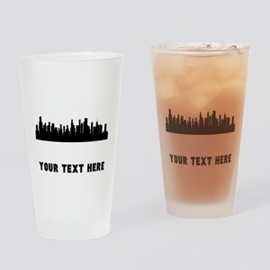 Chicago Cityscape Skyline (Custom) Drinking Glass
