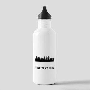 Chicago Cityscape Skyline (Custom) Water Bottle