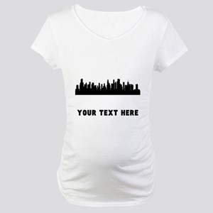 Chicago Cityscape Skyline (Custom) Maternity T-Shi