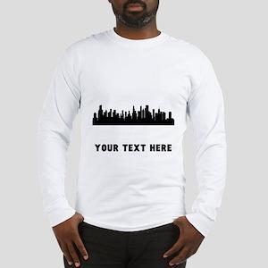 Chicago Cityscape Skyline (Custom) Long Sleeve T-S