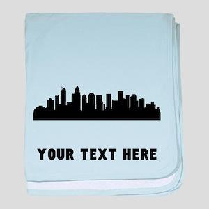 Charlotte Cityscape Skyline (Custom) baby blanket